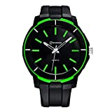 ETbotu Men Watch Shock Resistant Fashion Luminous Sport Watches Waterproof Silicone Military Watch Green