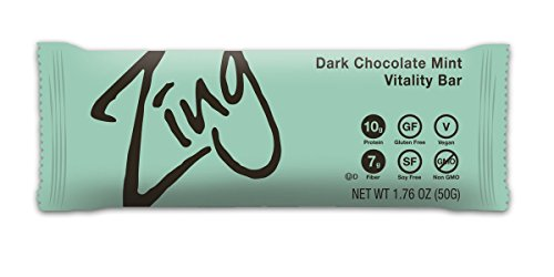 Zing Nutrition Bar, Dark Chocolate Coconut, 1.76 oz.,12 Count