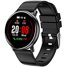 Smart Watch for Android Phones and iPhone Compatible, Fitness Tracker for Men and Women with 10 Workout Modes, Track…