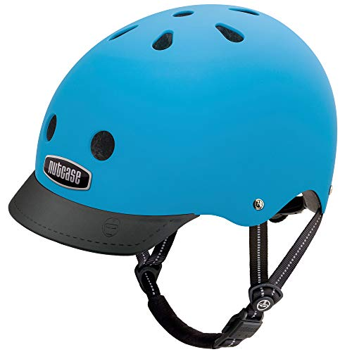 Nutcase - Solid Street Bike Helmet for Adults, Bay Blue Matte, Medium - Deluxe Multi Tool