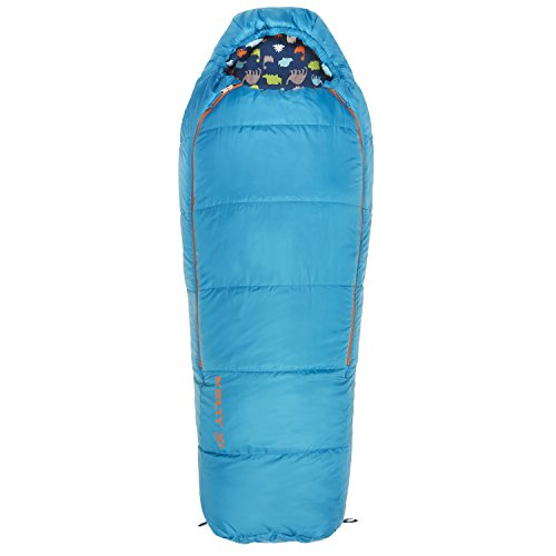 Kelty Woobie 30 Degree Kids Sleeping Bag, Blue, Short, Stuff Sack Included - Children's Sleeping Bag Ideal for Sleepovers, Camping, Backpacking and More.