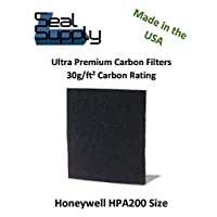 6 Pack of Carbon Activated HPA200 Pre Filters for Honeywell Air Purifiers. Precision Machine Cut for Perfect Installation. Compatible HW Models HPA200, HPA202, HPA204, HPA250B