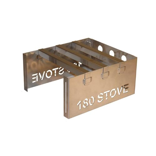 180 STOVE - Emergency Stove, Backpacking Stove, Camp Stove - Stainless Steel - U.S.A. Made by 180 Tack B005LKB56M