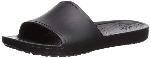Crocs Women's Sloane Slide Sandal, Black, 9 M US