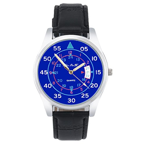 LANDFOX Men's Leisure Time Diamond Faux Leather Analog Three Eyes Wrist Watches - Collection Versace 2016
