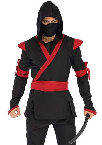 Leg Avenue Mens Ninja Halloween Costume, Black/red, MED/LGE for $<!--$43.74-->