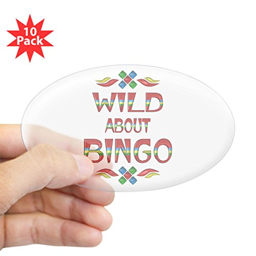 CafePress - Wild About Bingo - Oval Sticker (10-Pack), Bumper Sticker, Car Decal, Euro Oval