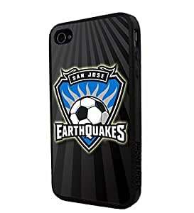 diy zhengSoccer MLS SAN JOSE EARTHQUAKES SOCCER CLUB FOOTBALL FC Logo, Cool Ipod Touch 4 4th / Smartphone iphone Case Cover Collector iphone TPU Rubber Case Black