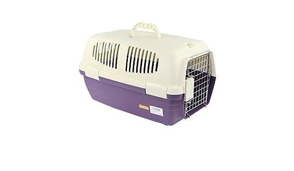YOMMY® Transportín Mascotas para Perros Gatos Plastico 47.5 X 29 X 28.5 cm ES YM-0155(Violeta): Amazon.es: Deportes y aire libre