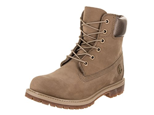 Women��s for Timberland with Padded Waterproof Nubuck Comfort Collar Collar Boots Uppers 6 Added Metallic Durable inch Premium Leather Natural dqrw7y1q