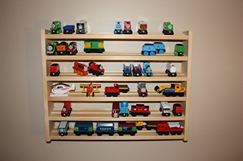 (Train Rack Ultimate - Thomas Train Wooden Storage Display Wall Rack Shelf Play Table Accessory Case for Brio Chuggington Melissa and Doug)