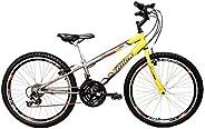Bicicleta Aro 24 Axess Amarela e Grafite 21v Aero, Track Bikes