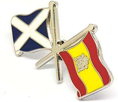 Escocia España Amistad Dual Cruzados Bandera Nacional Pin Insignia ...