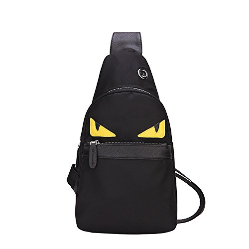 Homekit Nylon Cross Body Shoulder Cute Monster Chest Bag Unbalance Gym Backpack for Outdoor - Sling Small Bag Tennis