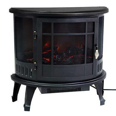 Free Standing Electric 1500W Fireplace Heater Fire Flame Stove Wood Adjustable by Standing (Image #6)