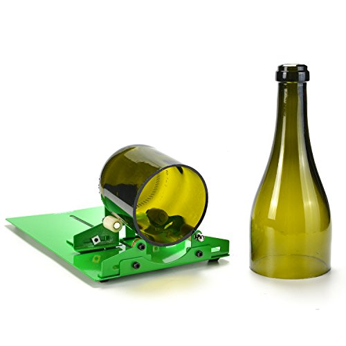 Glass Bottle Cutter, AGPtEK Bottle Cutter Cutting Machine, Wine Bottles Beer Bottles Cutter Glass Cutter Cutting (Best Agptek Bottle Cutters)