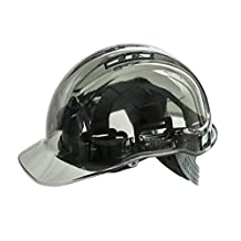 Portwest PV50 Peak View Safety Hard Hat with UV Protection, Vented Smoke