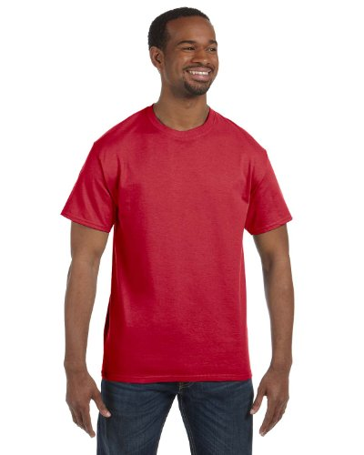 - Jerzees Dri-Power Mens Active T-Shirt Medium True Red