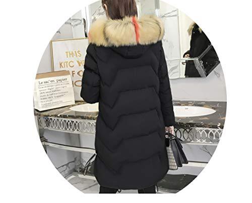 Femmes Vrac Noir D'hiver Marée Long 2018 Coton Manteau De Sauvage Pour Vêtements En Clothing qvZRwS