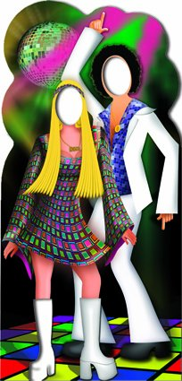 Disco Couple Stand In - Stand In Lifesize Cardboard Cutout / Standee / Standup