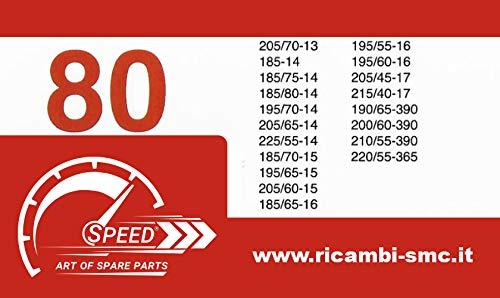 Catene da Neve OMOLOGATE Speed 9mm per Pneumatici 195//60 R 16 Gruppo 80
