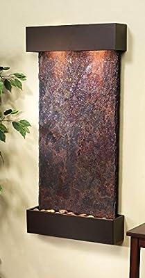 Adagio Whispering Creek Fountain w/ Rajah Natural Slate in Antique Bronze Finish