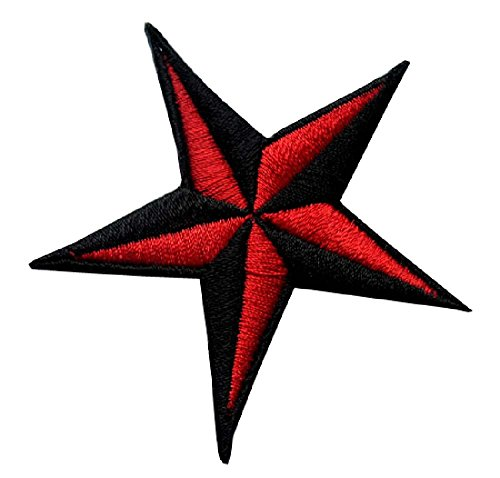 Black Nautical Symbol Embroidered Patch product image