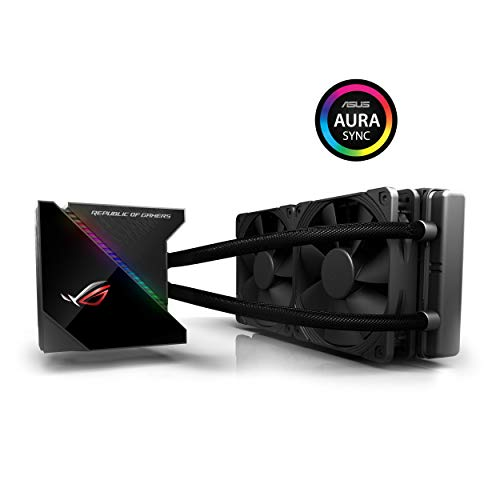 Asus 90RC0030-M0UAY0 OG Ryujin 240 All-in-One Liquid CPU Cooler with Colour OLED, Aura Sync RGB and Noctua iPPC 2000 PWM 120 mm Radiator Fan black