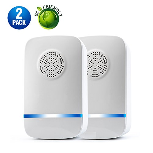 LANKOER Ultrasonic Pest Repeller - 2018 LATEST UPGRADE CHIP - Electronic Pest repellent, Mouse Repeller Plug in Pest Control (2 PACK)