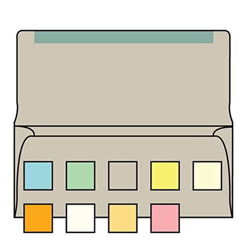 #6-1/4 Collection/Remittance Envelopes, 3-1/2'' x 6-1/4'' 24# Recycled Gray Pastel, Open Side, Flaps Extended (Box of 500)
