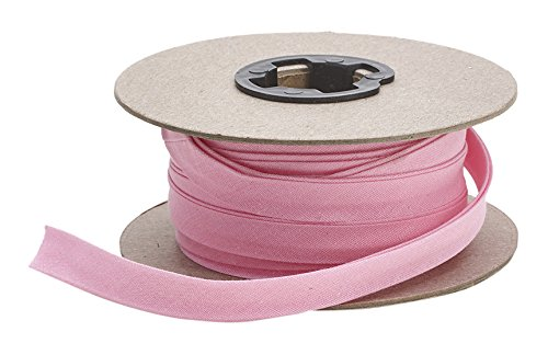 Pearl 7/8'' Double Fold Quilt Binding, P/C, 25 yd, Pink by Pearl