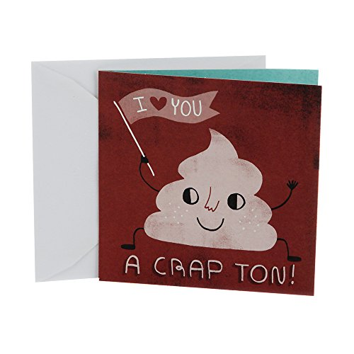 Hallmark Studio Ink Birthday Card or Anniversary Card (I Love You A Crap Ton)