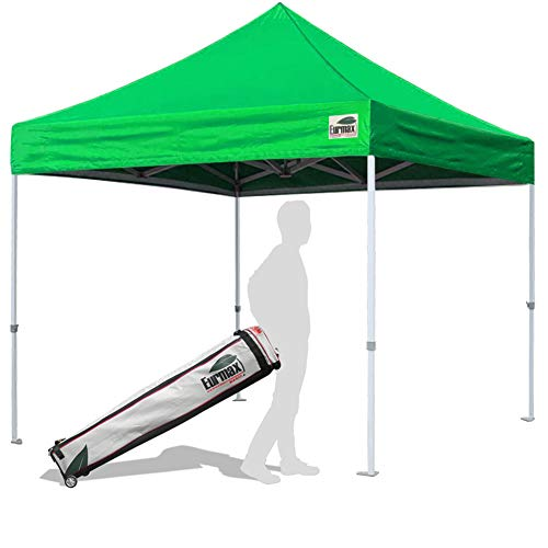 Eurmax 10'x10' Ez Pop Up Canopy Tent Commercial Instant Shelter with Heavy Duty Carry Bag (Kelly Green)