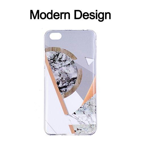 Funda de mármol para Xiaomi Redmi Note 5A, Carcasa Suave TPU Oududianzi Funda de Silicona Flexible Soft Silicone Case Casco Protectora Anti Choque - Niña Golden Marble