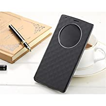 Luxury Flip PU Leather Cover Case Quick Circle Smart Wake Up Case For LG G4 (Assorted Color) ( Color : Black )