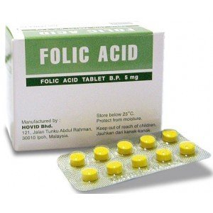 HOVID Folic Acid 5Mg 100 Tablets (Pack of 3 Boxes of 100 Tablets) by HOVID
