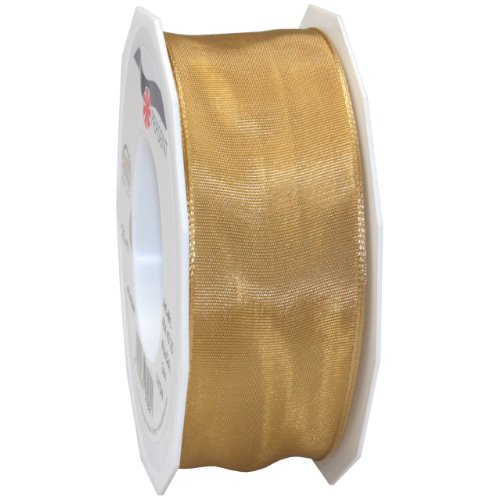 Wired Lyon Fabric Ribbon, 1-1/2-Inch by 27-Yard, Old Gold (Copper Gold Swags)