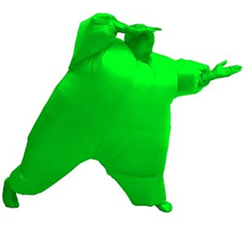[Chub Suit Inflatable Blow up Full Body Jumpsuit Costume (Green)] (Inflatable Chub Suit Costume)