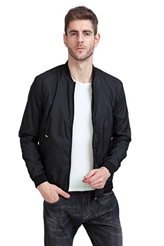 YIDI Men's Casual Classic Slim Bike Motorcycle Coat Outwear Long Sleeve waterproof Bomber Jacket (US S, (Mens Casual Motorcycle)