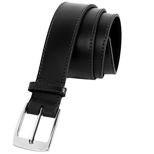 Detailed Leather Belt - Boys' Faux Leather Belt (BLACK, MED)