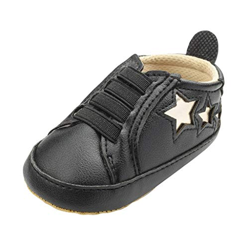 (SUNyongsh Spring Baby Shoes Fashion Casual Breathable Candy Sneakers Five-Pointed Star Toddler Shoes Black)