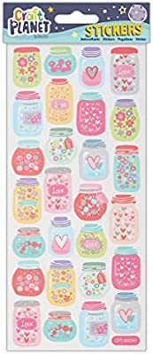One Size Multi-Colour Craft Planet Stickers