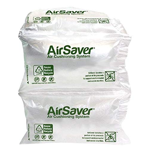 320 Count 4x8 airSaver air Pillows (3 Large Rolls) 39 gallons 5 Cubic feet Green Void Fill Cushioning eco Friendly by Airsaver Pack (Image #4)
