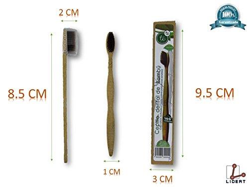 LIDERT Cepillo De Dientes Bambú Madera Biodegradable Ecológico Moda