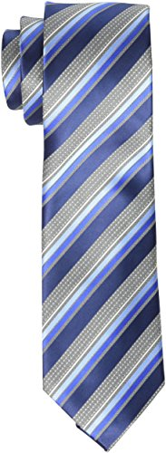 Geoffrey Beene Men's Priceless Stripe Tie, Blue, One Size