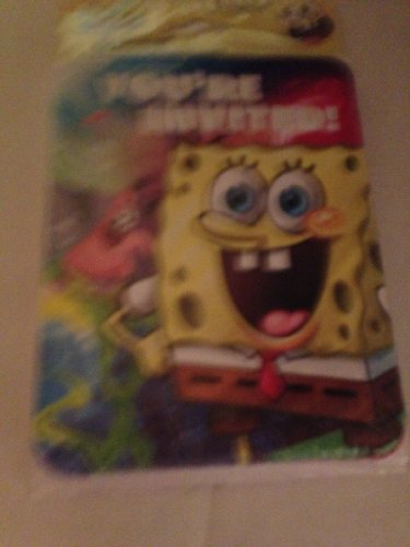 Sponge Bob Party Invitations and Thank You Post Cards -