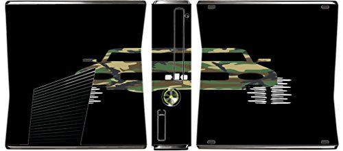 4x4 Camo Camouflage Offroad Off Road Vehicle Black Background Xbox 360 Slim (2010) Vinyl Decal Sticker Skin by Moonlight Printing (Best Off Road Games For Xbox 360)