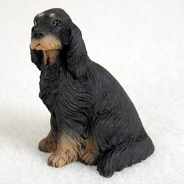 Gordon Setter Miniature Dog Figurine