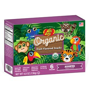 (Jelly Belly Organic Fruit Flavored Snacks Rainforest Animals Assorted 4.8 oz Box)