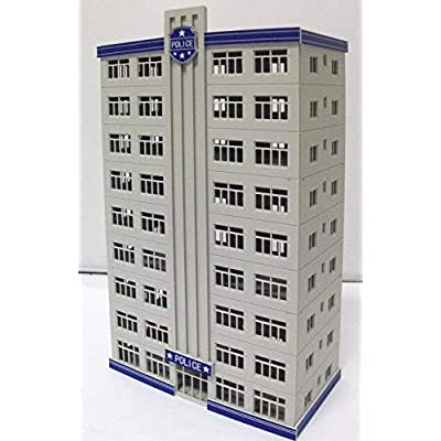 outland models Railway Police Department Headquarter / Station Building N Scale: Toys & Games